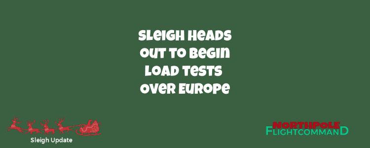 Test Flights Over Europe